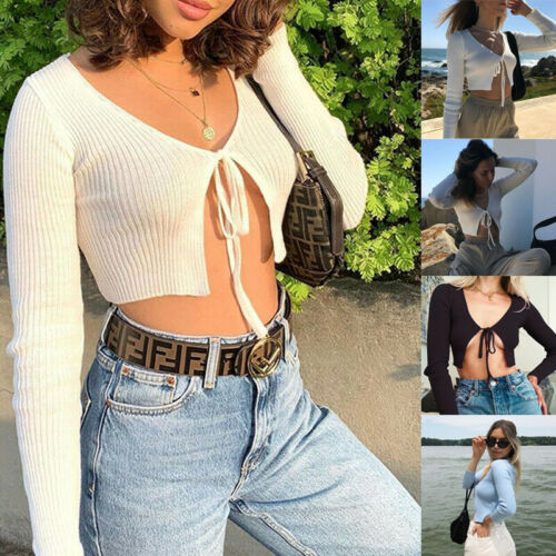 Summer Stylish Simplicity Ladies Knitted Top Cardigan Sexy Long Sleeve Open Front Button Up New Spring Autumn Sweaters