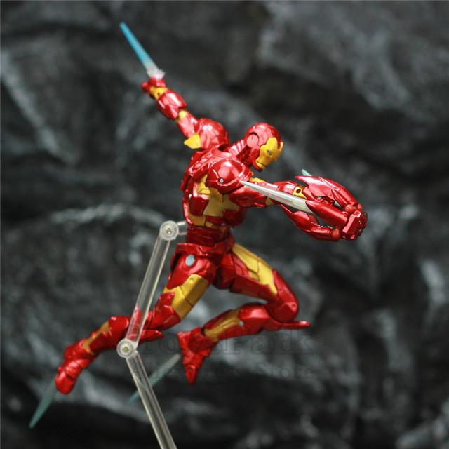 Marvel Avengers Iron Man Bleeding Edge Armor MK37 6″ Action Figure Complex KO's Revoltech Amazing Yamaguchi NO.013 Toys Doll