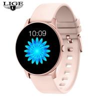 Neue mode LED Farbe bildschirm frauen smart uhr Fitness tracker smart band uhr Wasserdicht sport für iPhone Fitness Armband + box
