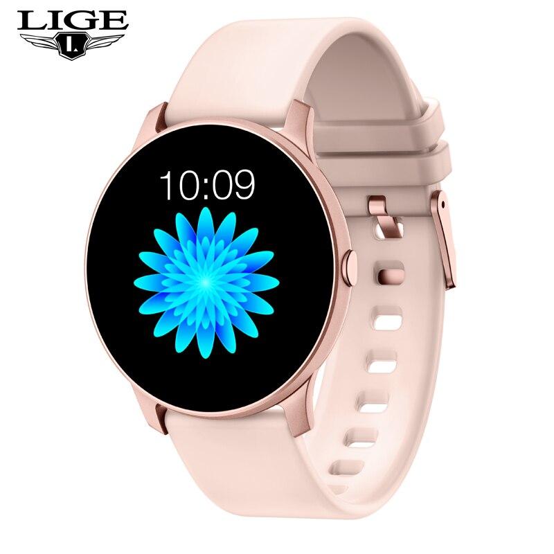 Nova moda led tela colorida mulheres relógio inteligente rastreador de fitness relógio banda inteligente esporte à prova dwaterproof água para iphone pulseira de fitness + caixa