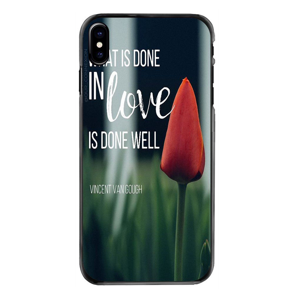 For Huawei P8 P9 P10 Lite Plus 2017 2016 Honor 5C 6 4X 5X Mate 8 7 9 What is done in love is done well Print Hard Phone Bag Case image