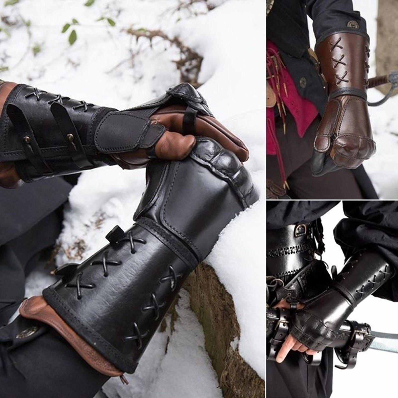 Equestrian Knight Gloves Gauntlet Wristband Medieval Vambrace Arm Cuff Armor