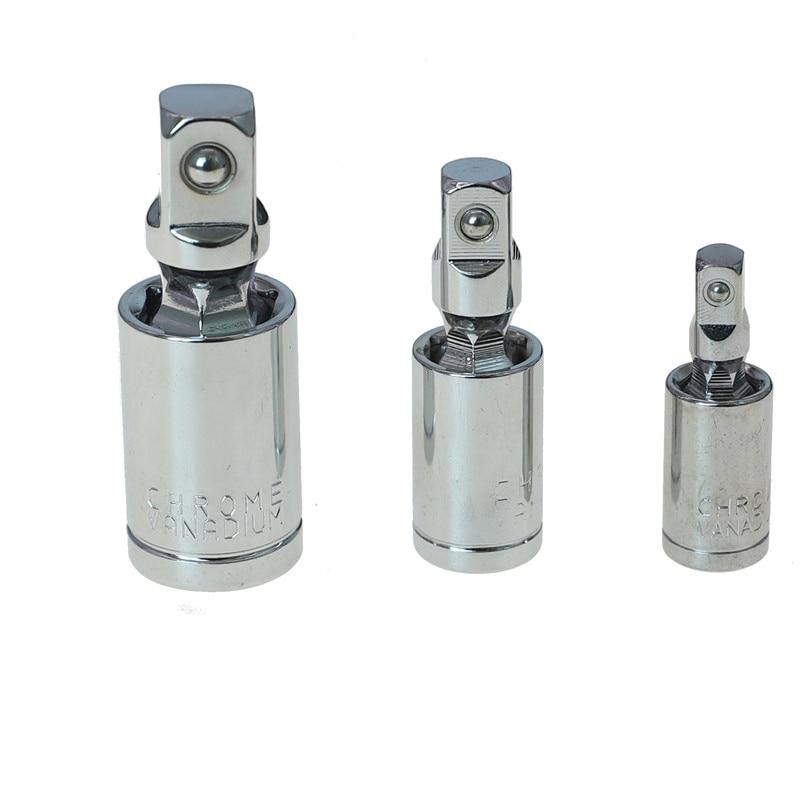 Joint Socket Set Auto Bar Socket Adapter Universal Ball Joint Car Vehicle Repair Tool 1//4 3//8 1//2 Flexible Angle Extension Ratchet Convertor