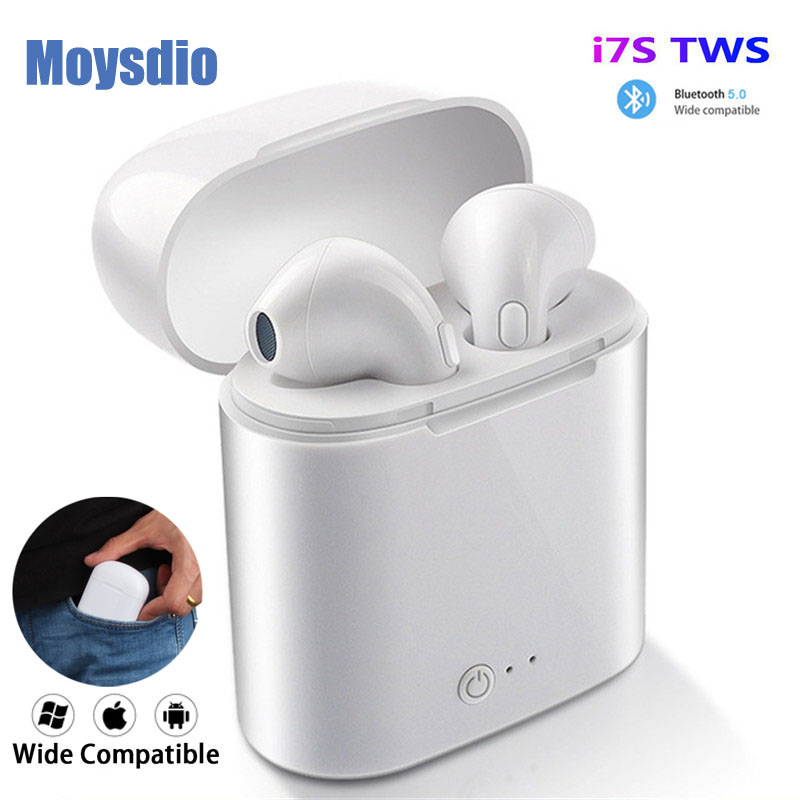 I7s Tws Wireless Headphones Bluetooth Earphones Air Earbuds Handsfree In Ear Headset With Charging Box For IPhone Huawei Xiaomi