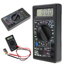 Novo profissional dt832 multímetro digital lcd dc ac voltímetro amperímetro ohm testador