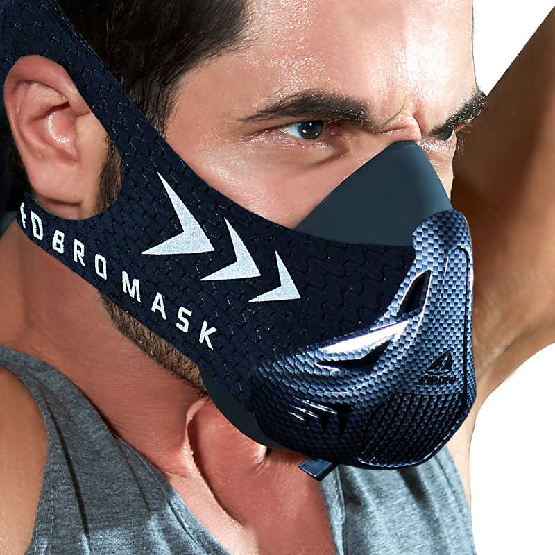 Fdbro Sport Running Masker Training Fitness Gym Workout Fietsen Elevatie Grote Hoogte Training Conditioning Sport Maskers 3.0