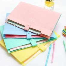 Multi Pocket Document Bag A4 File Folder Plastic Case Expanding Waterproof Pouch School Paper Fastener Organizer Office Supplies