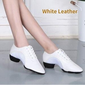 Image 4 - Танцевальные туфли унисекс, дышащие, сетчатые, для джаза, балетных, латинских танцев, женские кроссовки для фитнеса
