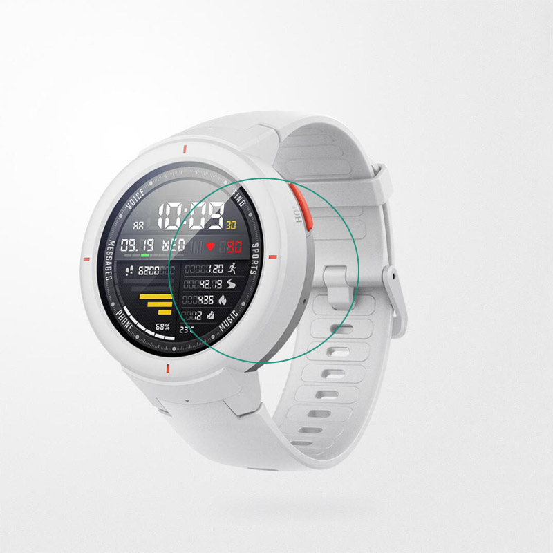 Tempered Glass Screen Protector Cover Clear Protective Film Guard For Xiaomi Huami AMAZFIT Verge 3 /Verge Lite Sport Smart Watch