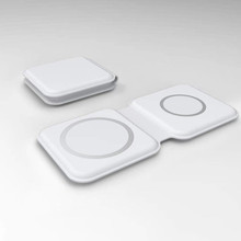 2 in 1 For iPhone 12 Pro Max 미니 Magsave 충전기 접이식 자기 이중 충전 무선 충전기 Apple Watch 5 6 또는 Airpods
