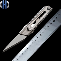 Titanium Alloy Utility Knife Seven speed One handed Tactics Self defense Self help Out Of The Box Cutting Paper EDC Tools