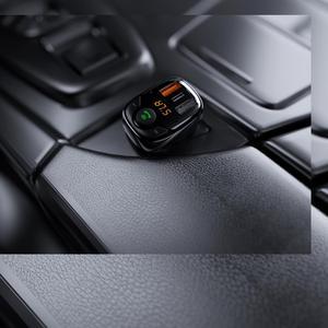 Image 5 - ROCK Three USB Car Charger B301 Bluetooth 5.0 FM Transmitter Digital 3.4A Intelligent Distribution Current Fast Quick Charging
