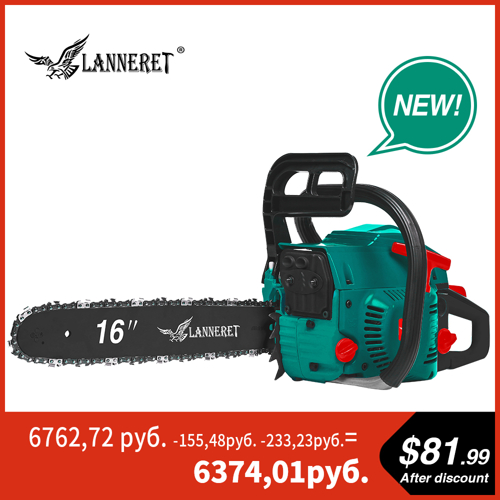 Gasoline Chainsaw 45CC Petrol Engine Chainsaw 2-Stroke With Saw Chain And Blade Top Handle