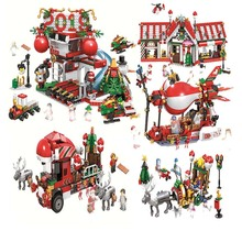 Creator Expert Winter Village Train Post Advent Calendar Year 2018 Building Block Kid Toys Christmas Gifts