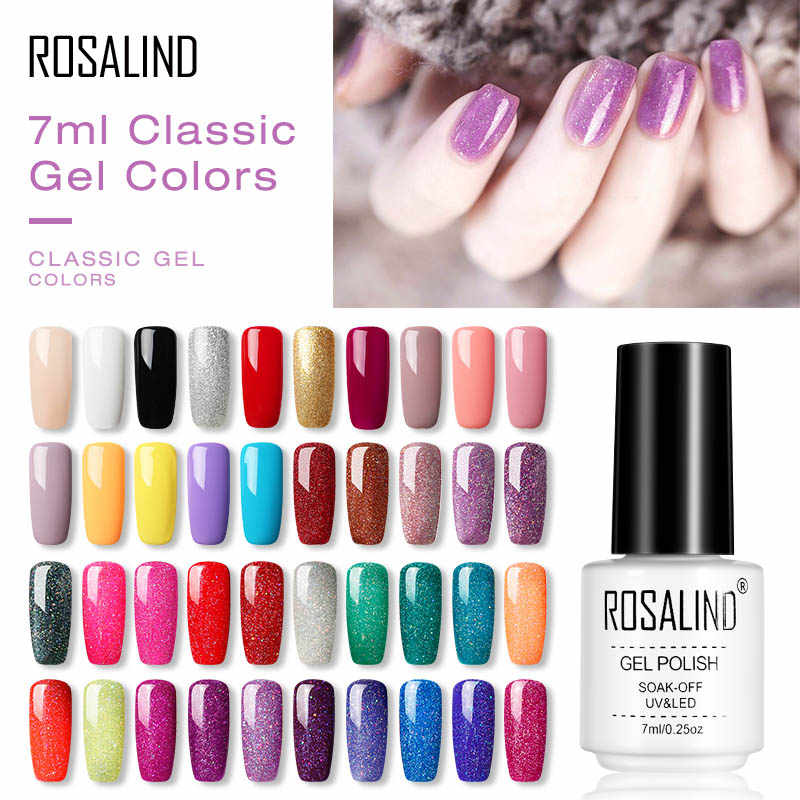 ROSALIND Gel Nail Polish All For Manicure Hybrid UV Varnishes Semi Permanent Gellak Nail Polish Primer Nail Gel Art Base And Top