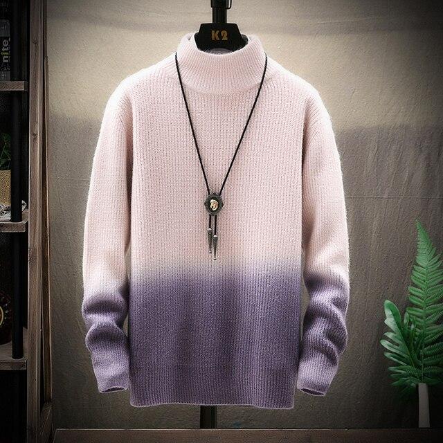 De calidad superior suéter de Navidad para hombres ropa de invierno 2020 grueso cálido suéteres Casual clásico cuello jersey de Cachemira de los hombres 5