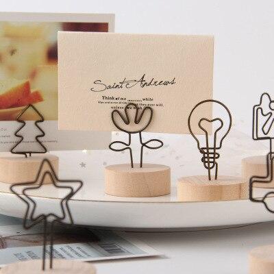 Folder Clips Place-Card-Holder Table Number Desk-Notes Memo Wedding-Favors Photo Flamingo