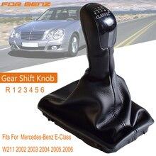 Schaltknauf Stick Hebel HandBall Gamasche Boot Leder Abdeckung Fall Fit Für Mercedes Benz E Klasse W211 2002 2009 manuelle 6 Geschwindigkeit