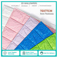 Wall-Stickers Paper-Ksi9 And 3D Shelf Brick Easy-Paste Peel 3d-Stone Splash Self-Adhensive