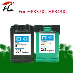 Image 1 - 343XL 337XLCompatible hp 343 337 インクカートリッジ HP337 343 用の hp photosmart 2575 8050 C4180 D5160 Deskjet 6940 D4160
