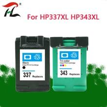 343XL 337XLCompatible para HP 343 337 Cartucho De Tinta para Deskjet HP337 343 para HP Photosmart 2575 8050 C4180 D5160 6940 D4160