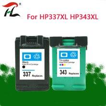 343XL 337XLCompatible per HP 343 337 Cartuccia di Inchiostro per HP337 343 per HP Photosmart 2575 8050 C4180 D5160 Deskjet 6940 D4160