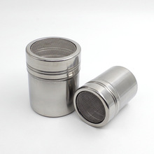 Sitko do posypywania czekoladą ze stali nierdzewnej mąka kakaowa puder cukier puder przesiewacz do kawy pokrywka Shaker narzędzie do gotowania kawa akcesoria kuchenne tanie tanio Ekologiczne STAINLESS STEEL ZZQ089 Ce ue