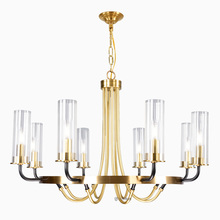 Candelabro de arte del hierro LED de lujo posmoderno iluminación nórdica de vidrio para sala de estar, accesorio para dormitorio, comedor, villa, luces colgantes
