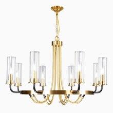 Plafonnier suspendu en fer et en verre, design nordique post moderne, produit de luxe, éclairage décoratif de plafond, idéal pour un salon, une salle à manger ou une villa, LED