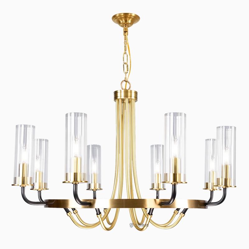Postmodern luxury LED Iron art chandelier Nordic glass living room lighting bedroom fixture dining room villa hanging lights