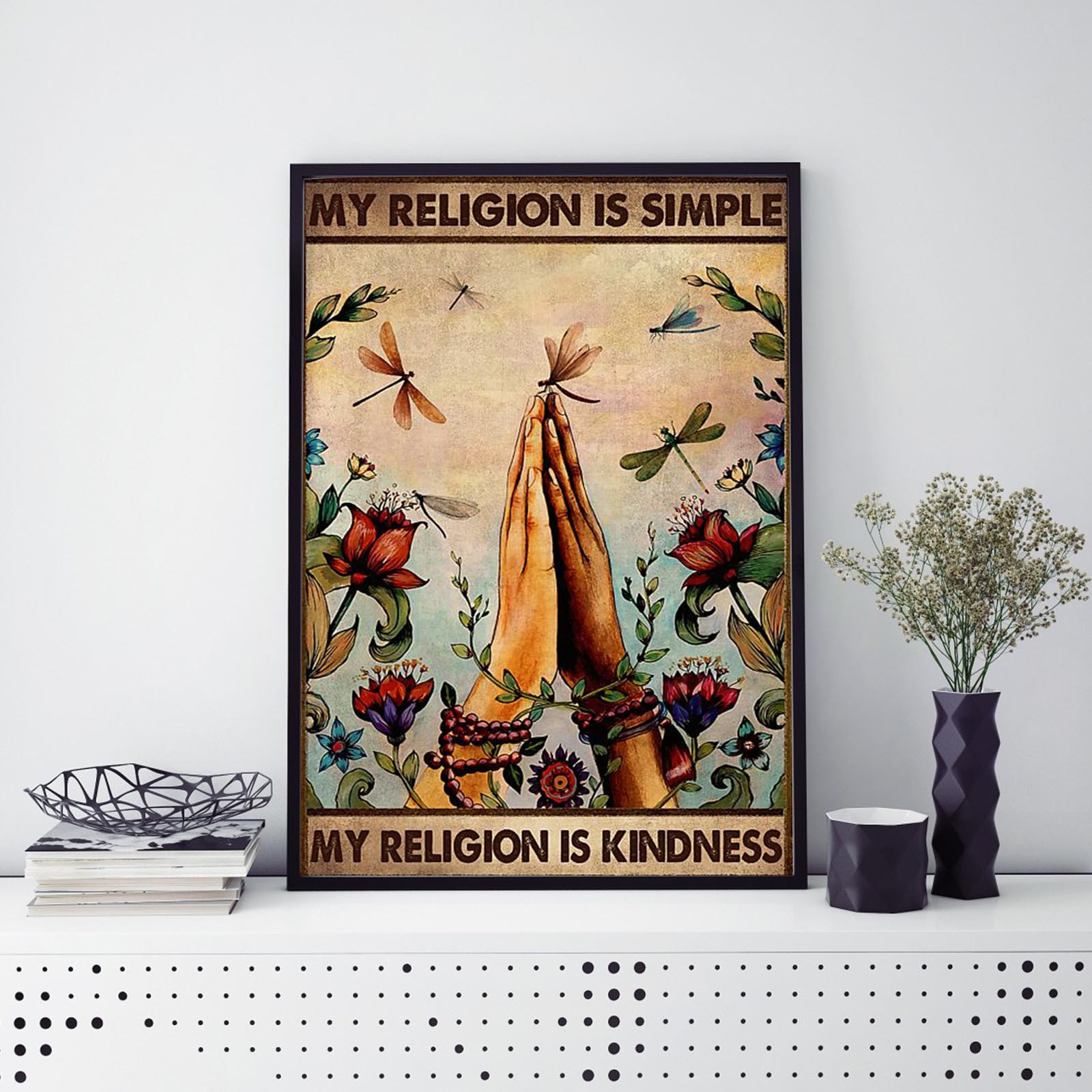 Wall Art Canvas Painting Pray Hands Abstract Retro Posters And Prints Wall Pictures For Living Room Home Decor Wall Pictures D7 Lustrous