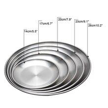 1 шт., корейский набор столовых приборов для путешествий, барбекю, гриль, мясные блюда, тарелка из нержавеющей стали, ресторанное блюдо, барбекю, для пикника, обеденные тарелки, поднос