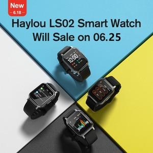 Новые смарт-часы Haylou LS02 с английской версией, IP68 водонепроницаемые, 12 спортивных режимов, напоминание о звонках, Bluetooth 5,0 смарт-браслет
