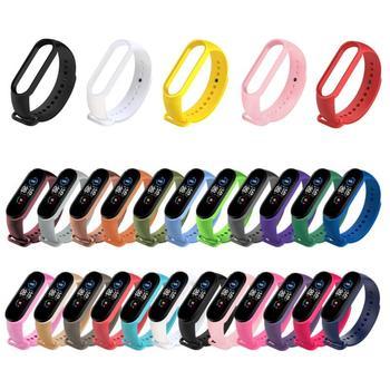 Colors Strap For Xiaomi Mi Band 5 6 Silicone Wristband Bracelet Replacement Strap For Mi Band 5 6 Wrist Color TPU Soft Strap 1