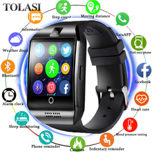 Bluetooth Smart Watch Q18 With Camera Facebook Whatsapp Twitter Sync SMS Smartwatch Support SIM TF Card For IOS Android Huawei