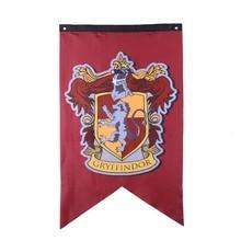 Harripotter вечерние поставки Колледж знамена флага для мальчиков и девочек, детский костюм для хеллоуина декорация Рождественский подарок Магия для дома