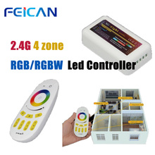 цена на RF WiFi+2.4G Remote+ RGBW LED Controller smart wifi controller Light For RGBW Led Strip Light Bulb Wireless RF Touch