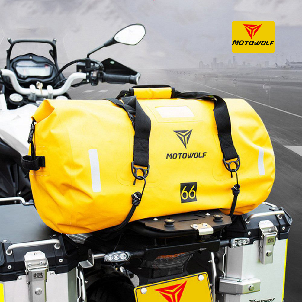 40L 66L 90L Motorcycle Tail Package Handbag Long-distance Backpack 6 Level Waterproof Large Capacity Motorcycle Bag