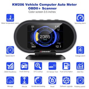 Image 2 - KONNWEI  KW206 OBD2 On Board Computer Auto Car Digital Computer Display OBD 2 Scanner Fuel Consumption Water Temperature Gauge