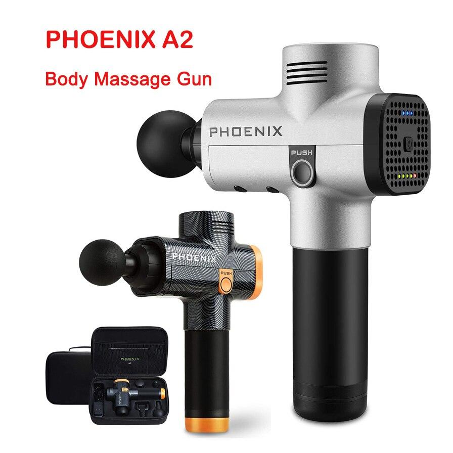 Phoenix A2 Electric Massage Gun Therapy Professional Muscle Massage Gun High Frequency Noiseless Powerful Muscle Massage Gun