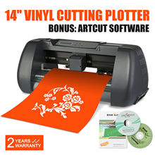 "Vinyl Cutting Plotter 14"" Vinyl Cutter Sign Cutting Plotter 375mm Printer Sticker Maker Usb Port"