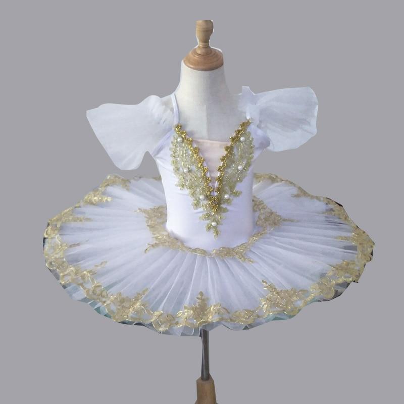 White Professional Ballerina Ballet Tutu For Child Children Kids Girls Adults Pancake Swan Dance Costumes Ballet Dress Girls
