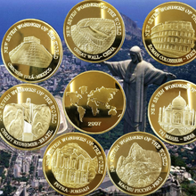 Commemorative-Coins Redeemer Coin-The-Seven 105PCS Christ Wonders-Of-The-World Non-Currency