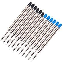 Recharges de stylo à bille à pointe moyenne 6 pièces, recharges de remplacement pour stylos Parker fournitures scolaires de bureau 0.7mm