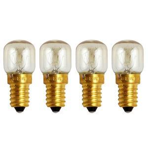 4pcs E14 Small Screw Light Bulb 300 Celsius Degree Oven Bulb Microwave Brass Lamp Bulb (Warm White, 25W)(China)