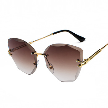 XaYbZc DESIGN Fashion Lady Sun glasses 2020 Rimless Women Sunglasses Vintage Alloy Frame Classic Brand Designer Shades Oculo 4