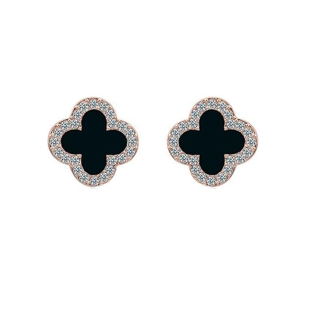 Pickyandco brincos para mulheres simples preto brincos coreano personalidade selvagem brincos bling estrela brincos de cristal 6