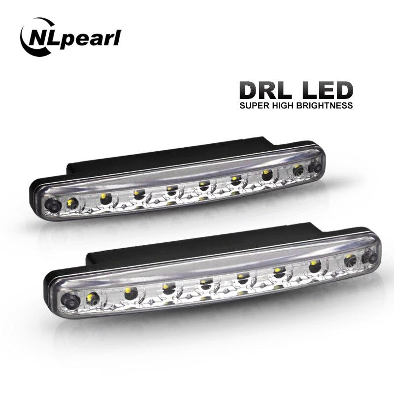 2X COB Flexible DRL Car LED Daytime Running Light Brake Light DC 12V Waterproof