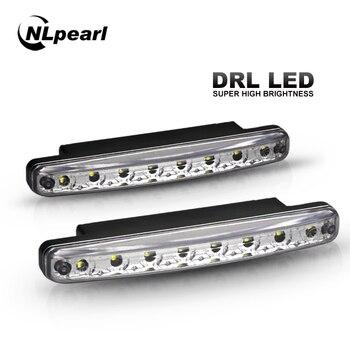 Nlpearl 2x Car Light Assembly LED Daytime Running Light Daylight Waterproof 12V 8LED DRL Car Driving Rinning Lamp White DC 12V цена 2017