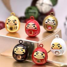 Pendant-Accessories Bells Japanese Daruma Hanging-Supplies Copper for DIY Backpack Seal
